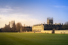 Merton College, Oxford (Sheng P.) Tags: oxford college merton uk british landscape photoshop retouch winter sky classic architecture hogwarts harrypotter tower ancient city cityscape sony a7 sel55f18z