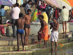varanasi 2017 (gerben more) Tags: varanasi benares india ghat people men shirtless