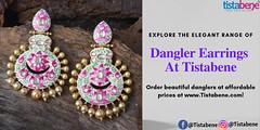 Buy elegant danglers online and get a charming look (Tistabene_Jewellery) Tags: danglers earringsonline earrings jewellery imitationjewellery artificialjewellery