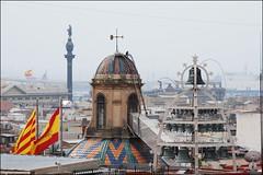 Palacio de la Generalidad (Barcelona, Cataluña, España, 22-3-2014) (Juanje Orío) Tags: 2014 bandera barcelona provinciadebarcelona cataluña catalunya españa espagne espanha espanya spain europa europe europeanunion unióneuropea flag campanario