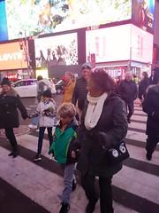 In Times Square (Joe Shlabotnik) Tags: timessquare violet dad newyorkcity cameraphone nyc manhattan everett december2018 galaxys9 mom 2018 sue
