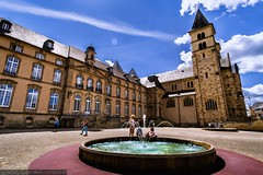 Echternach - St. Willibrord Basilica and Abbey (Robert GLOD (Bob)) Tags: basilica echternach lu architecture building chapel church construction europe fountain luxembourg mission shrine spring