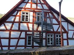 Fachwerk+Wendeltreppe - Spaziergang Neuenbürg - Neuenbürger Schloss (thobern1) Tags: neuenbürgenz neuenbürg enzkreis badenwürttemberg schwarzwald blackforest foretnoir germany