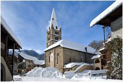 Le XVème siècle sous la neige ! (watbled05) Tags: architecture ciel extérieur hautesalpes massifdesecrins montagne neige paysage vallouise village église xvèmesiècle