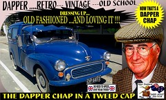 Dapper Chap In A Tweed Cap 2019  Part 4 (Save The Last Ocean) Tags: vintagecarclub vintagecar oldschool retro man fashion poster sign outdoor distinguished gentlemans cap tweed wearing car nz kiwi older oldman granpa classic auto vehicles cavalrytwilltrousers rally show club menswear scottish houndstooth uk british woven yorkshire 2019 nokia headlight art blazer plaid auckland hamilton rotorua tauranga gisbourne napier hastings wellington nelson christchurch dunedin invercargill city tweedcap tweedjacket citycouncil newplymouth whanganui wanganui rockandhop parked road street tweedjacketphotos van morrisminor truck 1971 1200cc sedan saloon manwearingtweedjacket menstweedjacket ride run
