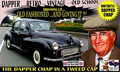 Dapper Chap In A Tweed Cap 2019  Part 6 (Save The Last Ocean) Tags: vintagecarclub vintagecar oldschool retro man fashion poster sign outdoor distinguished gentlemans cap tweed wearing car nz kiwi older oldman granpa classic auto vehicles cavalrytwilltrousers rally show club menswear scottish houndstooth uk british woven yorkshire 2019 nokia headlight art blazer plaid auckland hamilton rotorua tauranga gisbourne napier hastings wellington nelson christchurch dunedin invercargill city tweedcap tweedjacket citycouncil newplymouth whanganui wanganui rockandhop parked road street tweedjacketphotos morrisminor black 1950s 1960s 50s 60s dapper