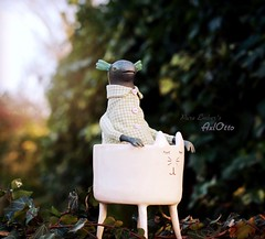 Riding Maurice ☀️ (pure_embers) Tags: pure laura embers doll dolls england uk pureembers photography photo art cute whimsical axolotl portrait artdoll sculpture friend maurice sunset
