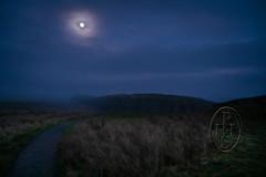 Moon Over Moorland Holding Hadrian's Wall 2 of 4 (PHH Sykes) Tags: hadrian's wall roman rome emperor moon steel rigg henshaw northumberland once twice brewed inn bardon mill scotland