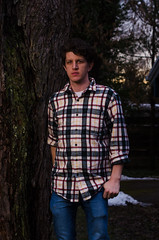 _DDA8900 (david_z_norton) Tags: availablelight flannel man outdoors plaid selfportrait silvermaple winter