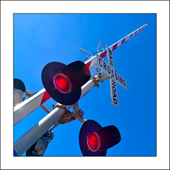 At the Crossing (Timothy Valentine) Tags: 0219 sky 52weeks sign 2019 large railroad hanson massachusetts unitedstatesofamerica us week92019 startingtuesdayfebruary262019 52weeksthe2019edition
