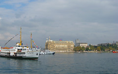 Istanbul, Turkey (east med wanderer) Tags: haydarpaşa railwaystation istanbul bosphorus asia sea clouds worldtrekker