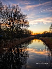 It felt like spring today (iPhone Fotograaf) Tags: landscape evening sunset iphone8plus reflection