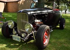 Customized 1934 Ford V8 (Rackelh) Tags: car vehicle vintage classiccar classic black park carshow ford oshawa ontario canada