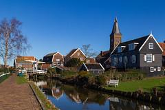 Marken (jan.vd.wolf) Tags: marken noordholland nederland nl netherlands woodenhouses church kerk bridge brug water canal vissersdorp fishingvillage house