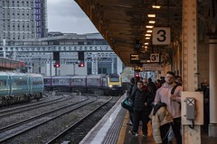 The final months (or weeks?) HST at Cardiff Central (Dai Lygad) Tags: trains railways railroads highspeedtrains gwr greatwesternrailway 16thfebruary2019 jeremysegrott flickr flickrstock photos photographs pictures images hst 43018 43156 cardiffcentral station people passengers
