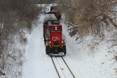 A little known cut (recekasten) Tags: neenah wiscosin railroads trains cn up bnsf cefx railroading