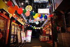 (Human-Faced Bun & Honey Pudding) Tags: chinatown china town street shot restaurant balloon colorful light fancy door lantern signboard narrow night lunar chinese new year building