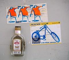 - (txmx 2) Tags: hamburg streetart archive reloaded 3d object installation glued bottle sticker pistolero funk25