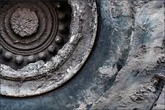 In the industrial area (Eva Haertel) Tags: eva haertel strase street industry industrie outdoor lkw truck wheel dirty schmutzig schlamm mud detail minimalism autoreifen cartire abstrakt abstract