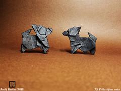 A5 Petits chiens noirs - Barth Dunkan. (Magic Fingaz) Tags: anjing barthdunkan chien chó dog ecorigami hond hund köpek origami origamidog paperfolding perro pies собака 犬 狗