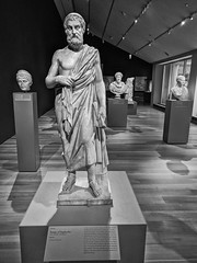 Classical (ancientlives) Tags: chicago illinois il usa travel trips artinstitute classical art statues sculpture classicalworld sophocles downtown city sunday february 2019 winter mono monochrome blackandwhite bw
