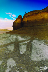 Modawara Mountain (Hossam Ghaith) Tags: rock formation landscape rocky sunrise landscapes landscapephotography fayoum egypt sky man people mountain modawara desert sandstone travel camp this is ef 1740mm f4l usm canon eos 6d adventure sand sunset nd hossam ghaith 500px wadi elrayan sunlight rolling