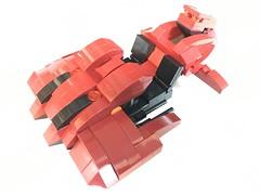 Red Revenant Front Left (dreki.bryni) Tags: halo moc afol lego