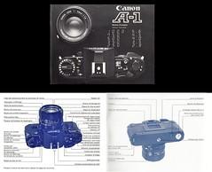 Canon A-1 (Japon, 1982 - ?) (Cletus Awreetus) Tags: appareilphotographique camera canon a1 reflex slr format135 blackcamera modedemploi notice ownersmanual usersmanual