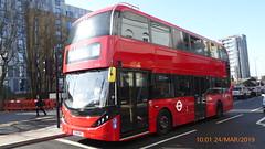 P1150237 2542 YX19 ORT at Walthamstow Central Station Selborne Road Walthamstow London (LJ61 GXN (was LK60 HPJ)) Tags: hackneycommunitytransportgroup ctplus alexanderdennistrident2hybrid enviro400hybrid enviro400hhybrid enviro400h enviro400hybridcity enviro400hhybridcity enviro400hcity e400h city 105m 10500 10500mm 2542 yx19ort j4354