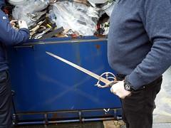 Knife Crime - 7 - WIP (the justified sinner) Tags: justifiedsinner panasonic 17 20mm gx7 westmidlands police wip workinprogress iron knife crime steel blade birmingham material