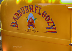 Dadburnfloozy (Photographybyjw) Tags: dadburnfloozy graphics this well done panel van found local car show north carolina ©photographybyjw auto color yellow rural country usa