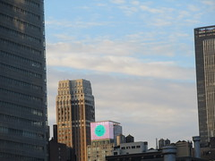 2019 March Morning Light Clouds 3547 (Brechtbug) Tags: 2019 march morning light clouds virtual clock tower from hells kitchen clinton near times square broadway nyc 03112019 new york city midtown manhattan winter spring weather building breezy cloud hell s nemo southern view