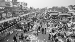 mullick ghat flower market b&w (s.v.e.n.) Tags: india calcutta kolkata west travel mullick ghat flower market city street train bengal howrah blackandwhite canon 5dmkii 1635mm