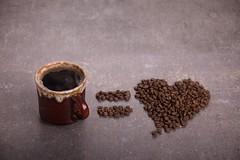 coffee bean beside brown ceramic mug - Credit to https://myfriendscoffee.com/ (John Beans) Tags: coffee coffeebean cafe coffeeshop coffeebeans shopbeans espresso coffeecup cup drink