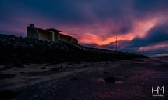Fiery sky (Helen Mulvey) Tags: beach coast lowtide redsky sky landscape longexposure d5100 nikon dawn sunrise ireland dublin dollymount