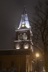 Snowy St. Anne's Episcopal Church (jtgfoto) Tags: approved annapolis snow snowy nightscape nightlights dta downtownannapolis annearundelcounty maryland naptown sonyimages sonyalpha cityscape zeiss stannesepiscopalchurch stannes steeple architecture architecturalphotography