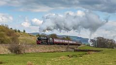 The Penine Blackpool Express 13-4-2019 (KS Railway Gallery) Tags: penine blackpool express railtour uk steam jubilee no45690 leander giggleswick bank