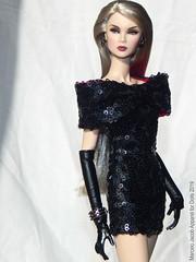 BOW BLK 1 (marcelojacob) Tags: marcelo jacob bow dress lilith blair smoke mirrors doll barbie nuface silkstone poppy parker