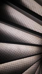 (Antiteilchen) Tags: 2019 blackwhite schwarzweiss tränenblech stairway stairs steel stahl wendeltreppe treppe deutschland germany berlin museumfürfilmundfernsehen