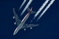Kalitta Air Boeing 747-481(F) N403KZ (Thames Air) Tags: kalitta air boeing 747481f n403kz contrails contrailspotting
