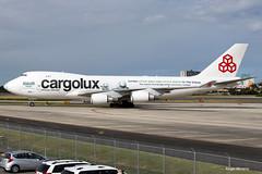 Cargolux, Boeing 747-4HQF(ER), LX-ECV at TJSJ, Sea Life Trust. (Angel Moreno Photography) Tags: cargolux boeing7474hqfer lxecv tjsj sanjuan puertorico airplaen plane aircraft planespotter b747 sealifetrust