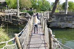 On The Floating Bridge (Joe Shlabotnik) Tags: disneyland disneylandparis violet everett paris france april2018 eurodisney bridge disney 2018 afsdxvrzoomnikkor18105mmf3556ged