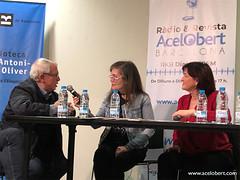 Entrevistant al president de l'Eix comercial de Sant Antoni