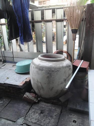 Water Jar With Broom