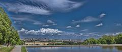Schönbrunn  Palace, Vienna in the Background (Only photoshoot, don't be afraid) Tags: schönbrunnpalace schloss palace vienna gloriette austria wien nikkor nikon sky blue pond water