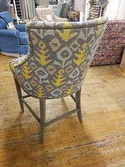 NEW Cassie Stools! (Brian's Furniture) Tags: norwalk furniture market 2019 spring brians westlake ohio 44145 westside cleveland premarket high quality american made lifetime warranty springs frame cushion core unlimited choices options customizable rocky river bay village upholstered built order locally shop local usa cassie stools wood legs curved back