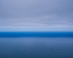 Blue and white stripes (JaZ99wro) Tags: exif4film ocean provia100f e6 analog tetenal3bathkit water plustekopticfilm120 pentax67ii f0364 madeira film clouds