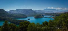 Tres Embalses Málaga Spain (Bobby.D Gonzalez) Tags: tres embalses málaga spain espana reservoir water lake dam mountain forest blue sky green turquoise cloud mist