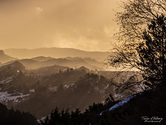"""""""Hills over hills"""" (Terje Helberg Photography) Tags: clouds cloudscape colour hill hills landscape mountain outdoor outside scenery silhouette snow spring trees view sunlight"""