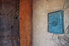 Marrakesh (u c c r o w) Tags: marrakesh morocco moroccan electricbox blue wall orange texture africa african door metal cement rust turquoise